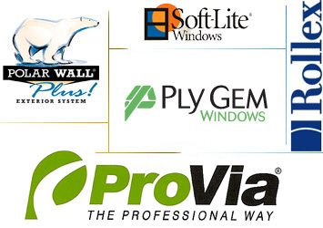 HomLite Custom Windows installs Great Lakes Window, Precision Entry, Sugarcreek Industries, Crane, Rollex, and Leafproof products